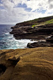 Crique de Kahauloa avec Aloha Image stock