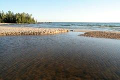 Crique de Katherine sur le supérieur de lac image libre de droits