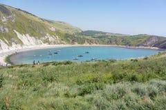 Crique de Lulworth et la côte jurassique Images libres de droits