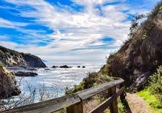 Crique de Partington chez Julia Pfeiffer State Park Image stock