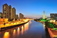 Crique de Suzhou à Changhaï Images libres de droits