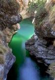 Crique de turquoise en vallée de SIG, Sospirolo, Italie images stock