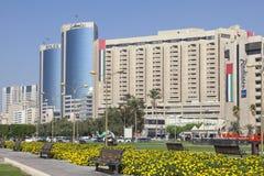 crique Dubaï de constructions photographie stock libre de droits
