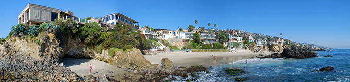 Crique en bois, Laguna Beach, la Californie image stock
