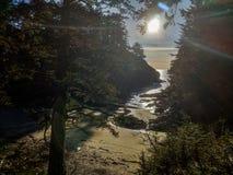 Crique ensoleillée de plage de nanowatt photo stock