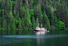 Crique et forêts paisibles de mer Photographie stock libre de droits