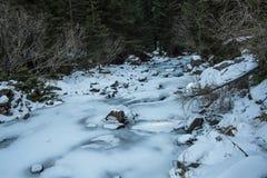 Crique glacée Photo libre de droits