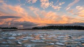 Crique glaciale Image libre de droits