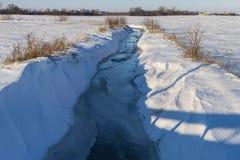 Crique hivernale Image libre de droits