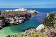 Crique/plage de la Chine dans la réservation naturelle d'état de Lobos de point Photos stock