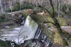 Crique principale de Vickery de cascade à écriture ligne par ligne @ Photo stock