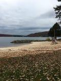 Crique profonde, plage de DM un jour d'automne Photo stock