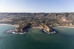 Crique sacrée Rancho aérien Palos Verdes California images stock