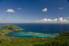 Crique sur l'île de Gorda de Vierge   Photos stock