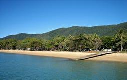 Crique tropicale de paume Image libre de droits