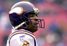 Cris Carter. Hall of Fame WR of the Minnesota Vikings. Image taken from a color slide stock photography