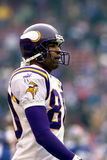 Cris Carter. Wide Receiver Cris Carter of the Minnesota Vikings walks to sidelines after play the National Football League Championship game stock photography