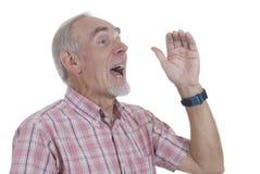 Cris d'homme aîné Image stock