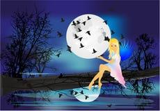 Crisalide di notte illustrazione vettoriale