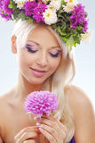 Crisalide floreale immagine stock