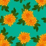 Crisantemo amarillo en Teal Background verde Ilustración del vector Foto de archivo libre de regalías