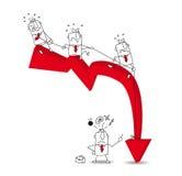 Crise économique images stock