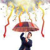 Crise économique orageuse Image libre de droits