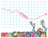 Crise ilustração royalty free
