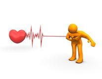 Crise cardiaque illustration de vecteur