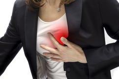 Crise cardiaque Photo libre de droits