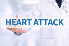 Crise cardiaque photo stock