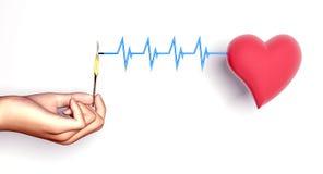 Crise cardiaque Images stock