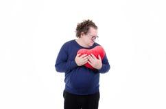 Crise cardiaque Gros type Image stock