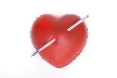 Crise cardiaque ou amour fol Image libre de droits