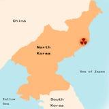 crise Corée au nord nucléaire Images libres de droits