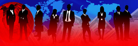 crise d'activité financière Images libres de droits