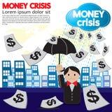 Crise d'argent conceptuelle. Photos stock