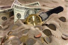 crise d'horloge financière Photographie stock