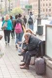 Crise da Espanha - vítimas da exclusão Fotos de Stock