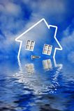Crise da hipoteca Fotografia de Stock