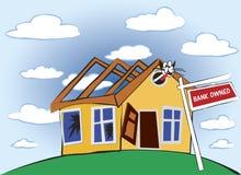 Crise da hipoteca Fotografia de Stock Royalty Free
