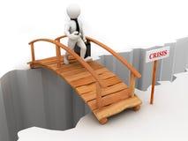 Crise da ponte Imagens de Stock