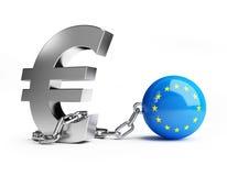 Crise da União Europeia Foto de Stock Royalty Free