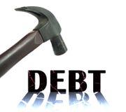 Crise dans la situation financière photographie stock libre de droits