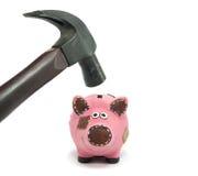 Crise dans la situation financière Photographie stock