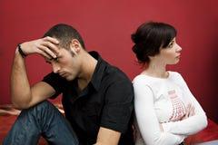 Crise de couples Images stock