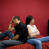 Crise de couples Photo stock