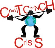 Crise de Cruch do crédito Fotografia de Stock