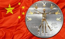 Crise de la Chine et de yuans Images libres de droits