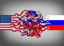 Crise de la Russie Etats-Unis Photos libres de droits